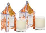 Seda France Sicilian Tangerine Mini Pagoda Candles (2 OZ) (Set of 2)