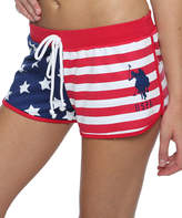 U.S. Polo Assn. Lipstick Red & Blue Flag Sleep Shorts