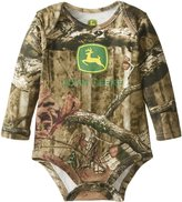 John Deere Baby-Boys Newborn Long Sleeve Trademark Bodyshirt