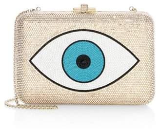 Judith Leiber Couture Slim Slide Evil Eye Crystal Clutch