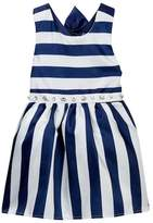 Nicole Miller Striped Back Bow Dress (Little Girls)