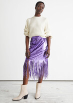 Thumbnail for your product : And other stories Sequin Fringe Midi Skirt