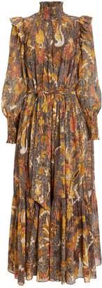 Ulla Johnson Constantine Birds of Paradise Voile Dress