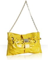 yellow patent leather 'Rio' clutch