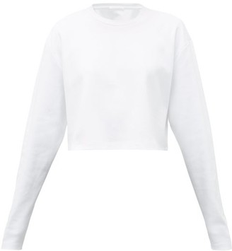 Wardrobe.nyc - Release 03 Cropped Long-sleeved Cotton T-shirt - Womens - White