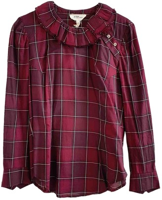Etoile Isabel Marant Burgundy Cotton Top for Women