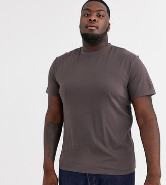 Asos Design DESIGN Plus organic t-shirt with crew neck in brown