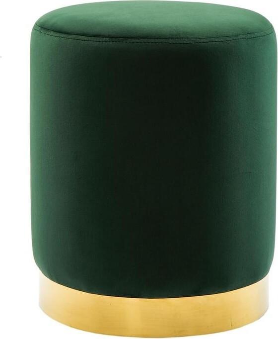 Thumbnail for your product : TOV Furniture Pri Forest Green Velvet Ottoman