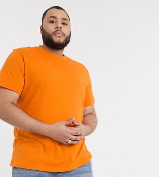 ASOS DESIGN Plus organic t-shirt with crew neck in orange