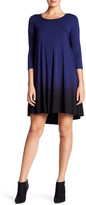 Karen Kane Ombre 3/4 Sleeve Maggie Dress