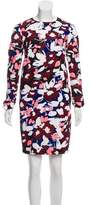 Jil Sander Navy Abstract Print Knee-Length Dress w/ Tags