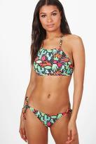boohoo Maldives Cactus Crop Bikini multi