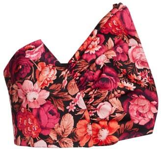 AMUR Mariana Floral Crop Top