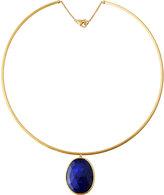 Marco Bicego Lunaria 18k Collar Necklace w/ Lapis Pendant