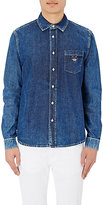 Kenzo Men's Embroidered Chambray Shirt-NAVY