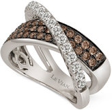 LeVian Le Vian Chocolatier® Diamond Crisscross Ring (1-1/8 ct. t.w.) in 14k White Gold