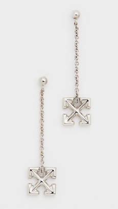 Off-White Pendant Arrow Earrings