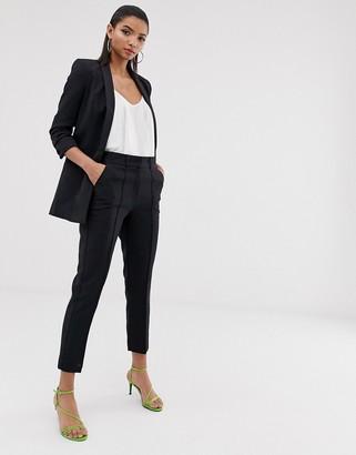 Asos Design DESIGN tailored smart mix & match cigarette suit pants-Black