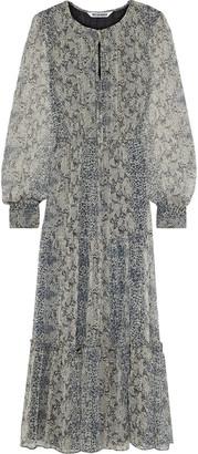 Walter Baker Tatiana Gathered Printed Georgette Maxi Dress