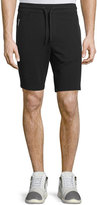 Michael Kors Mesh-Trim Drawstring Shorts, Black