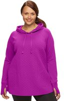 Tek Gear Plus Size Quilted French Terry Hoodie