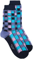 Paul Smith squared effect socks - women - Cotton/Polyamide/Spandex/Elastane - One Size