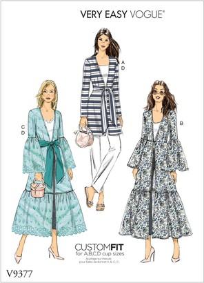 Vogue Women's Ruffle Jacket Sewing Pattern, 9377