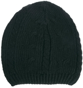 Asos Cable Slouchy Beanie Hat - Black
