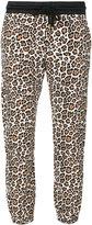 Twin-Set leopard printed trousers - women - Cotton/Spandex/Elastane - XS