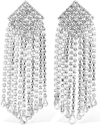 Alessandra Rich Crystal Cascade Clip-on Earrings