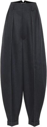 Maison Margiela High-rise wide-leg wool pants