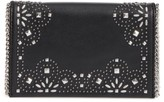 Chelsea28 Fleur Studded Faux Leather Convertible Clutch - Black
