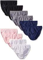 Vanity Fair Women's True Comfort Cotton Stretch 10-Pack Hi Cut Panties