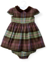 Ralph Lauren Cap-Sleeve Plaid Dress w/ Bloomers, Blue/Green/Red, Size 6-24 Months