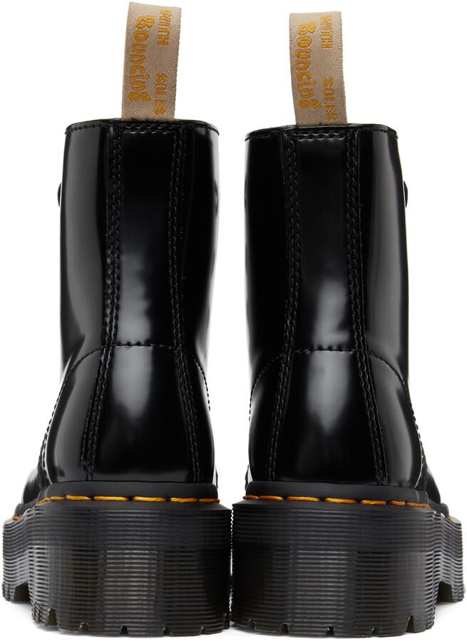 Thumbnail for your product : Dr. Martens Black Vegan Sinclair Platform Boots
