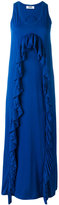 MSGM ruffle trim dress - women - Cotton/Polyester - M