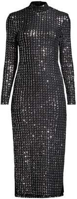 Smythe Sequin Side Slit Bodycon Dress