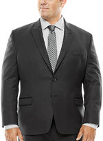 COLLECTION Collection by Michael Strahan Black Herringbone Suit Jacket - Big & Tall