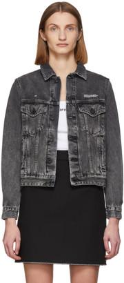 Off-White Off White Grey Denim Washed Jacket