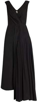 Marni Gathered Poplin Midi Dress