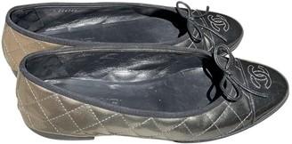 Chanel Metallic Patent leather Ballet flats