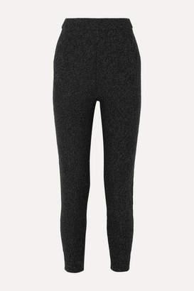 Joseph Mouline Melange Merino Wool Track Pants - Dark gray