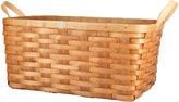 Rejuvenation Ash Wood & Leather Nesting Basket - Large