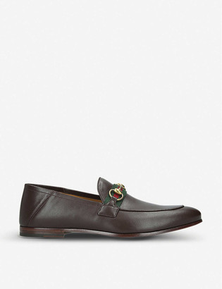 Gucci Brixton leather loafers