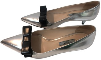 Prada Metallic Patent leather Heels