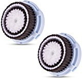 Mia 2 Replacement Compatible Brush Heads for Delicate Skin, 2 Refills