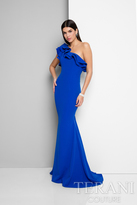 Terani Prom - Lovely One-Shoulder Asymmetric Polyester Mermaid Gown 1711P2402
