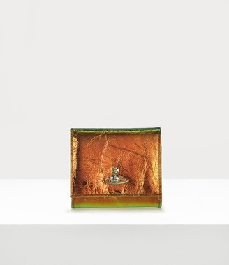 Vivienne Westwood Archive Orb Flap Coin Wallet Plain Orange