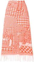 Tsumori Chisato fringed flared midi skirt