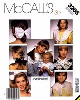 Mccall's 3205 Sewing Pattern Marti Michell Collars Hair Bows